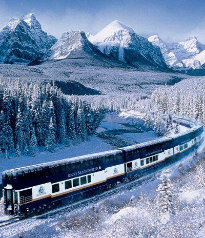Las maravillas del invierno .. Canadá. ¡Tomar el tren!                                                                                                                                                     Más