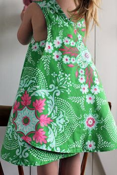 Wrapped pinafore summer dress tutorial