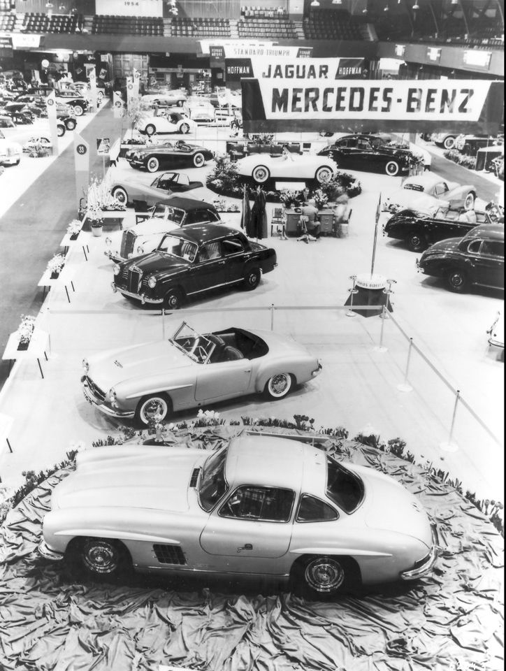 International Motor Sports Show in New York, 1955. The premiere of the Mercedes-Benz 190SL & 300SL was about to turn a couple of pages in the book of automotive history.