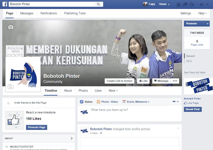 Media Social // Bobotoh Pinter Facebook