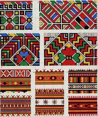 Σχέδια για κεντήματα, σεμέν, μπορντούρες, γωνίες και ατραντέ σε γεωμετρικά σχήματα από την Ουκρανία, Designs for embroidery, doilies, edgings, corners and atrante geometric shapes from Ukraine, Los diseños de bordados, tapetes, orlas, esquinas y atrante formas geométricas procedentes de Ucrania,