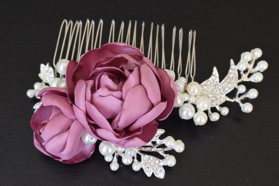 Bridal wedding hair piece bridal hair accessory by MkeFlower