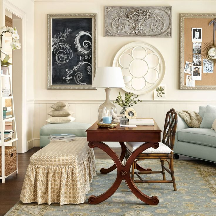 17 best images about salon on pinterest waiting area art photography and beauty salons - Ballard design home office ...
