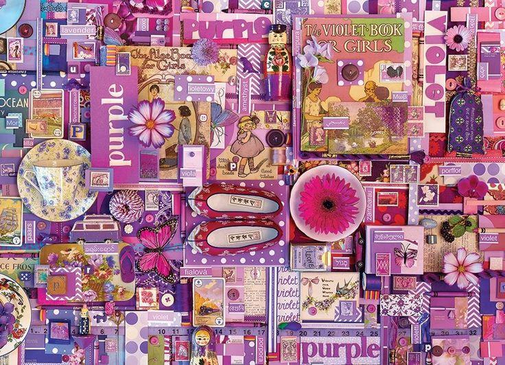 Puzzle COBBLE HILL 51866 Barvy duhy: Fialová 1000 dílků