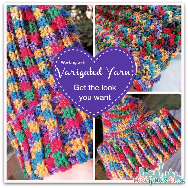 Crochet Scarf Pattern Variegated Yarn : Crochet How To ? Working with Variegated Yarns and Free ...