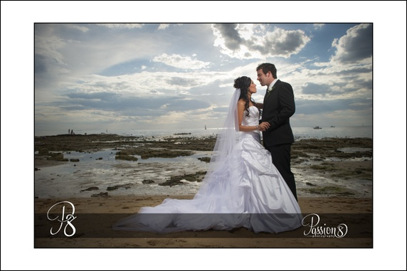Wedding at Brighton Savoy - Bride & Groom  on Brighton Beach - Passion * Photography