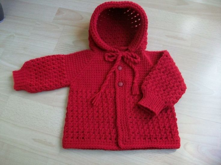 Tunisian Crochet hooded baby Sweater - via @Craftsy baby ...