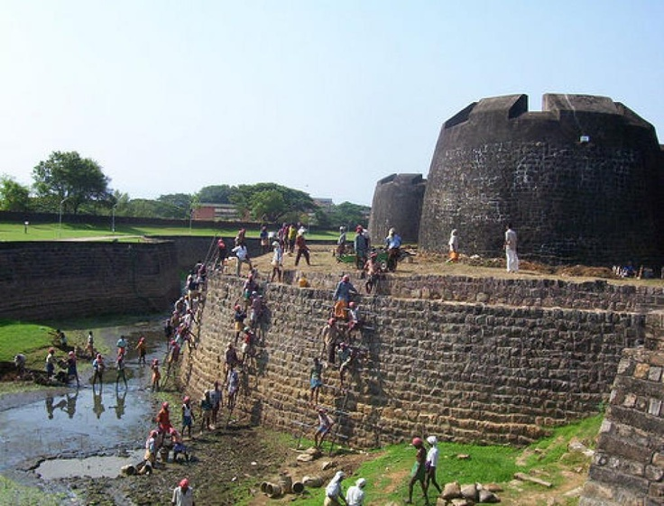 Palakkad Fort,Palakkad, Kerala The fort is also known as Tippu's Fort. Built in 1766 by Hyder Ali.
