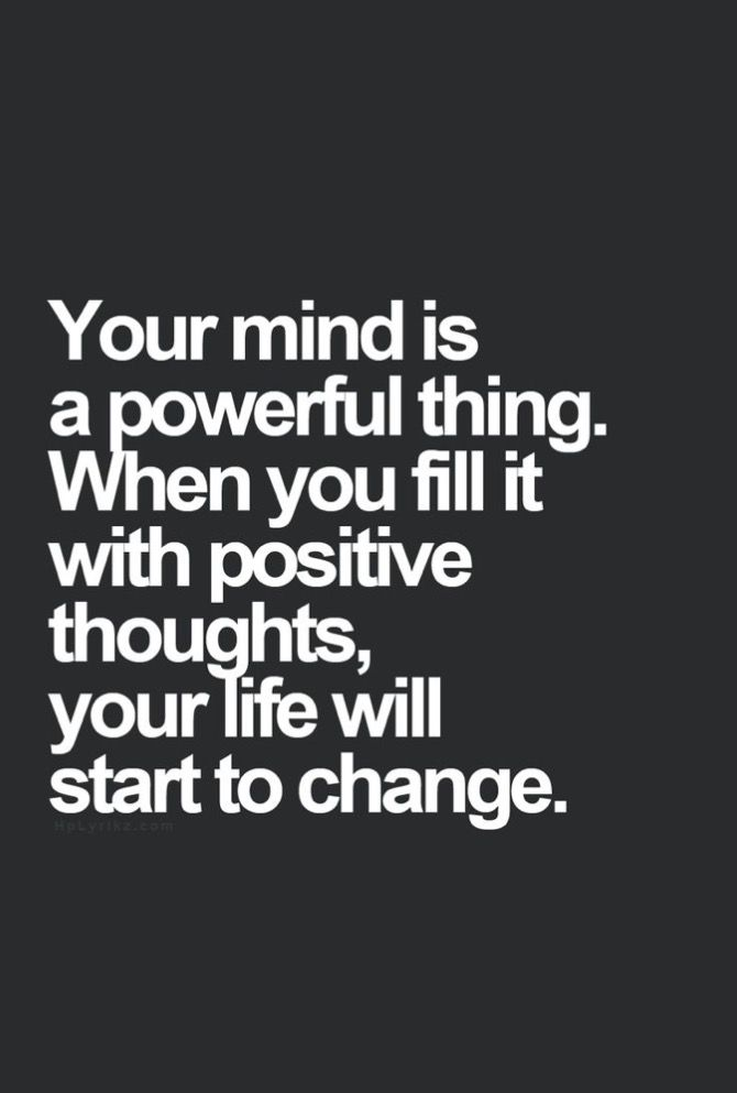 Positive thoughgs