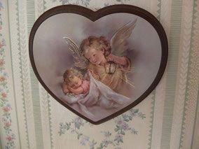 Anges, cadre en forme de coeur chambre enfant