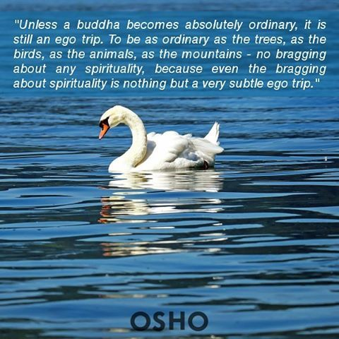 """.... No bragging about any spirituality, because even the bragging about spirituality is nothing but a very subtle ego trip."" #OSHO #OSHOquotes"