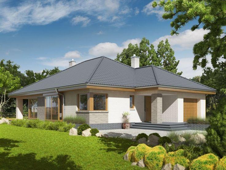 Dom, który imponuje klasycznym pięknem i czystą elegancją. Zgrabna forma została ubrana w subtelne połączenie biegłego i szarego klinkieru, które harmonijnie komponuje się z ciemnym kolorem dachówki. Ogromnym atutem projektu jest atrakcyjny, zadaszony taras, który od wiosny do później jesieni integruje domowników podczas rodzinnego relaksu na świeżym powietrzu.