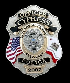 Cypress, CA Police Department Badge