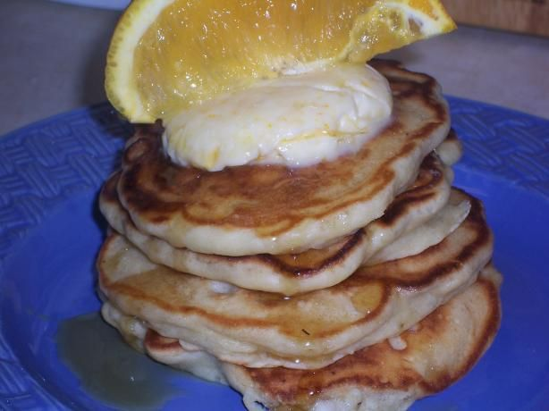 Banana Macadamia Nut Pancakes With Orange Butter. Today's breakfast ...