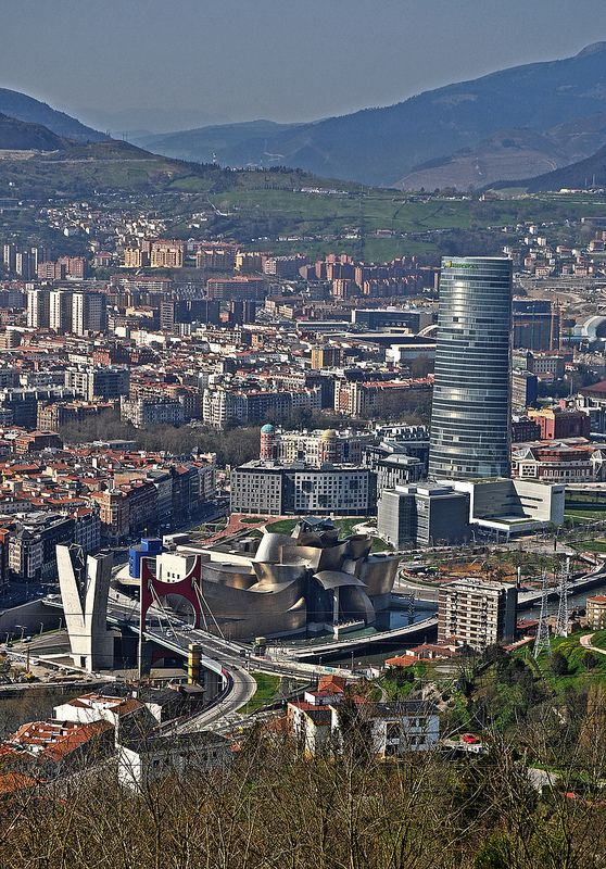 9/4/12 - While in Bilbao we took a trip on the funicular railway up to the top of Mount Artxanda, the views are stunning and you can see most of Bilbao from the top.