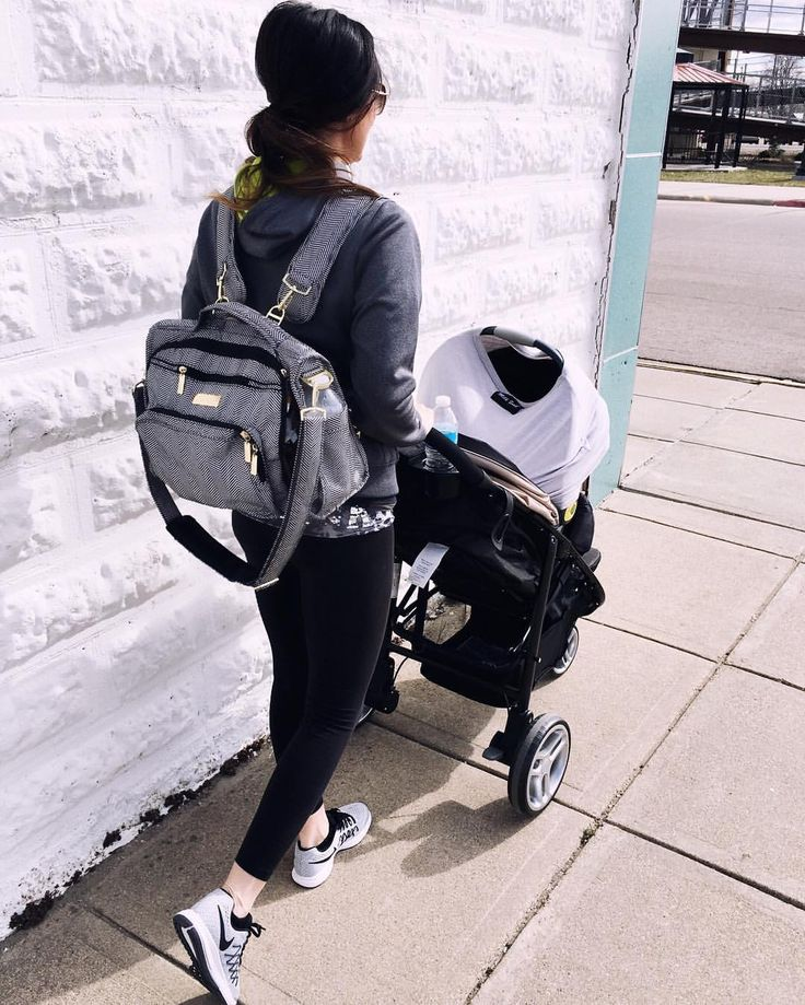 "Backwoods & Botox on Instagram: ""another look from yesterday. every new mama needs a @jujube_intl diaper bag, @gracokids jogging stroller & a @milksnob cover."""