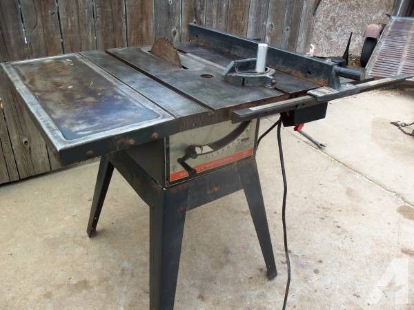 "{{10"" Sears Table Saw, Belt Dr. Lt. & Rt. Extensions, Baldor Motor}} for Sale in Wichita, Kansas Classified 