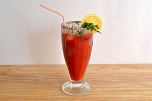 Make a Caesar Drink - Non Alcoholic http://www.wikihow.com/Make-a-Caesar-Drink