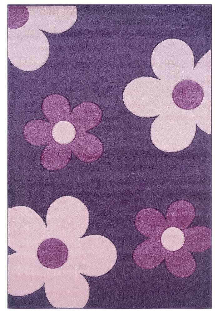 Ebay Sponsored Contemporary Kids Rug In Purple And Baby Pink Id 3172507 Kids Rugs Flower Rug Linon