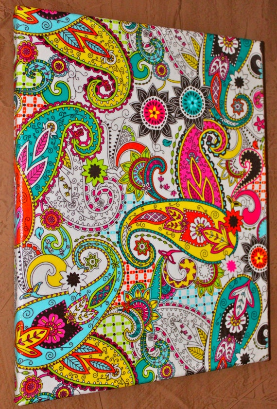 Fun & Funky Paisley Fabric Wall Picture  Special by AquaXpressions, $16.00