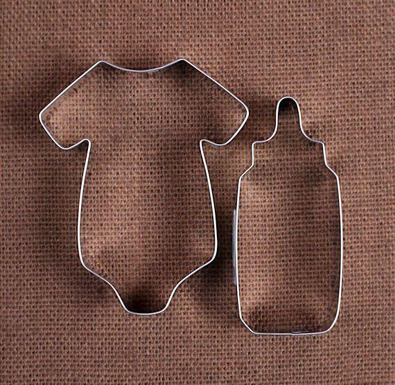 Baby Shower Cookie Cutters: Bottle U0026 Onesie