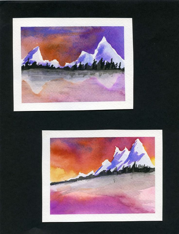 175 best 9th grade art images on pinterest watercolor for Landscape art projects