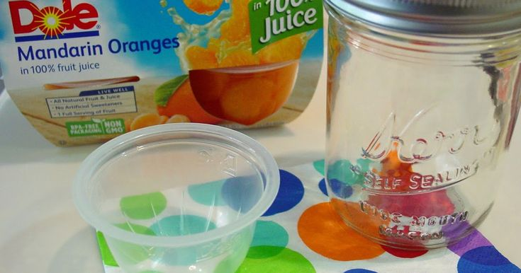 Look at this! Did you know that those little individual fruit cups fit perfectly…