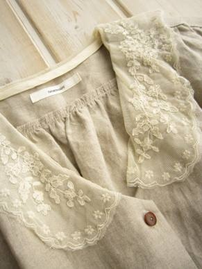 <3: Linens Blouses, Linens And Lace, Anarosa, Beige Dresses, Vintage Lace, Peter Pan Collars, Life Style, Vintage Dresses Lace Collars, Linens Shirts