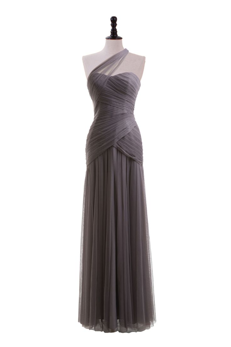 One Shoulder Tulle Gown