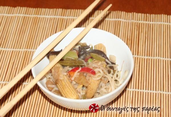 Noodles με κινέζικα λαχανικά #sintagespareas
