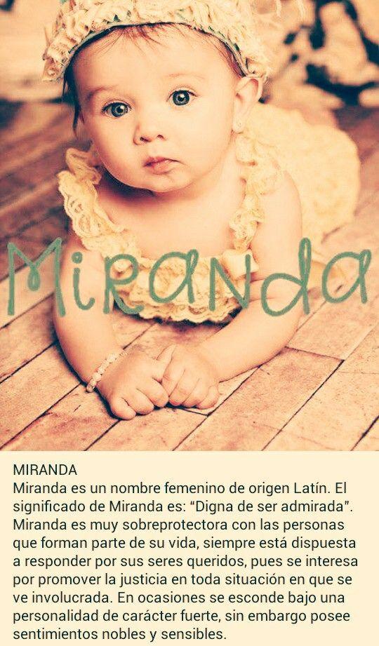 Nombres de niñas, significado del nombre Miranda