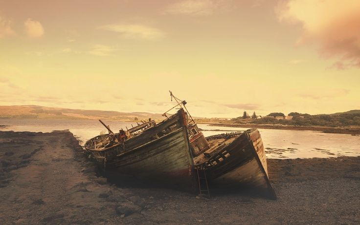 Shipwreck Scotland  #Shipwreck #Scotland #Sepia #Vintage #Landscapes #Sunsets