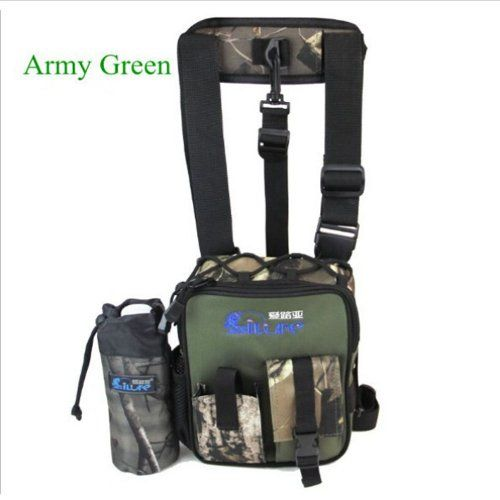Besteam Ilure New Army Green Waterproof Arrival High Quality Canvas Multi-function Fishing Leg Bags Fishing Tackle Messenger Fishing Backpack Package Fishing Tools Bag Camouflage Fishing Tackle Bags