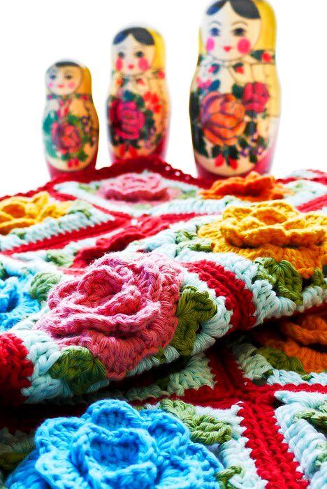 Crochet: Babouska Rose Baby Blanket