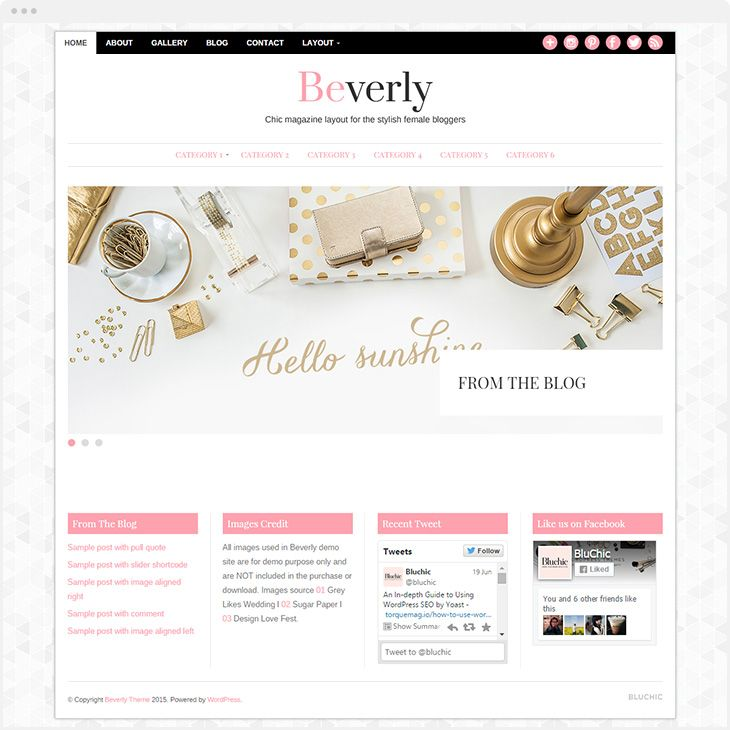 16 Chic and Easy to Use Feminine WordPress Themes From the Goto Site for the Modern Blogger, www.PoorLittleBlogger.com