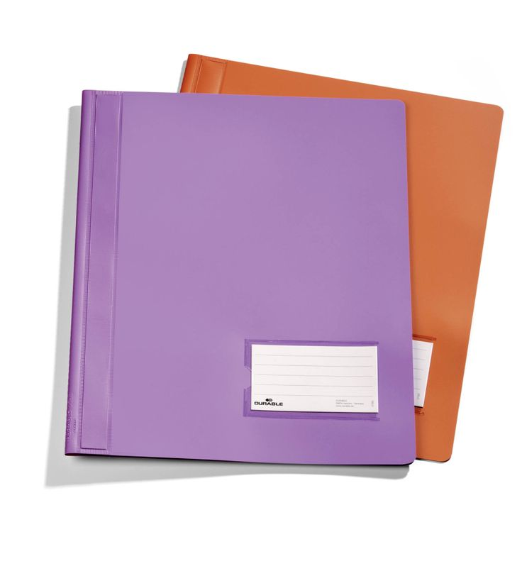Premium folder with plastic coated filing bar for storing punched sheets and a business card pocket on the cover. Ideal for presentations, quotations and meetings. Available in two stylish new colours.