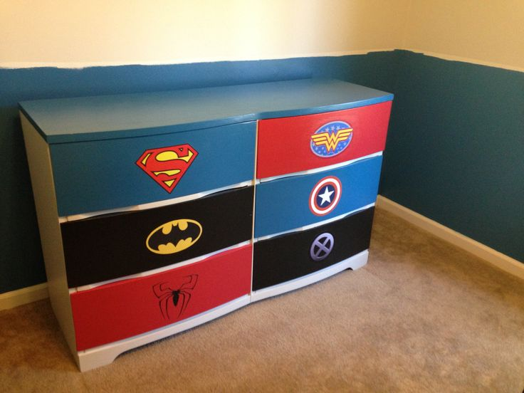Superhero dresser for kids
