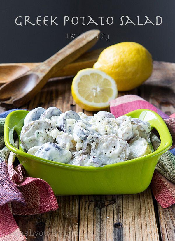 Greek Potato Salad! This salad subs mayo for greek yogurt and adds fresh dill and a burst of lemon!