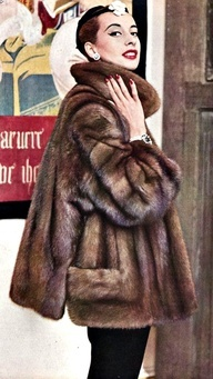 vintage christian dior fur coats