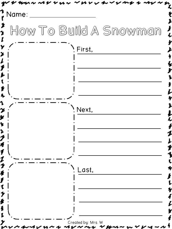 Winter Literacy and Math Activities - How To Build A Snowman