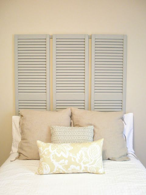 using shutters for a headboard 2
