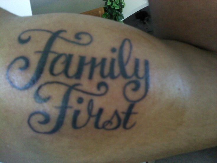 Family First Tattoo Design Images & Pictures - Becuo