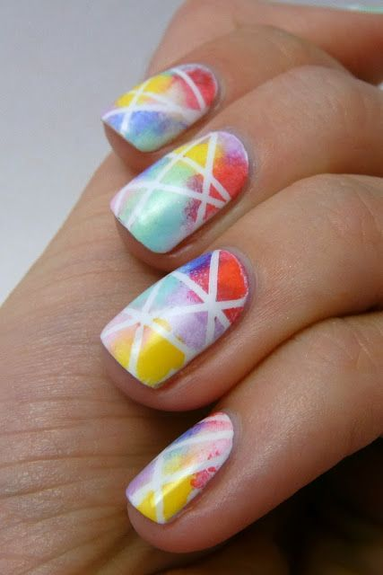 Striping Tape Multicolored Nails