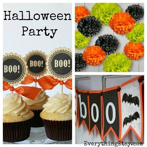Halloween Party Supplies {Etsy Finds}: Parties Etsy, Etsy Halloween, Halloween Parties, Parties Supplies, Party Supplies, Halloween Fal, Supplies Etsy, Etsy Finding, Halloween Ideas