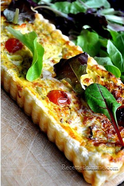 Tarte salée tomates cerise & fromage de chèvre