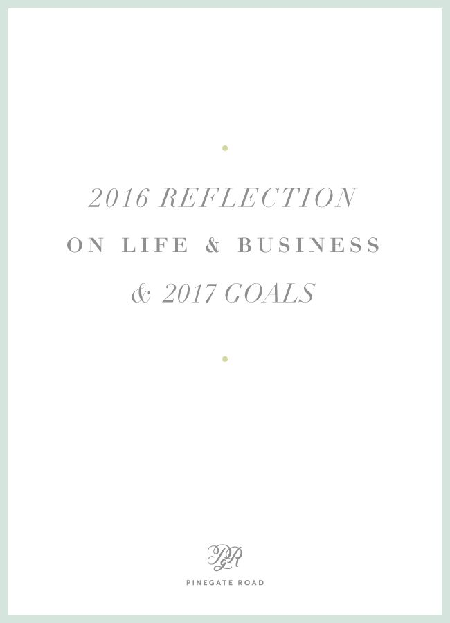 My reflection on 2016 as a creative entrepreneur, and setting goals for 2017 in life and business. #branding #graphicdesign #logo #business #entrepreneur