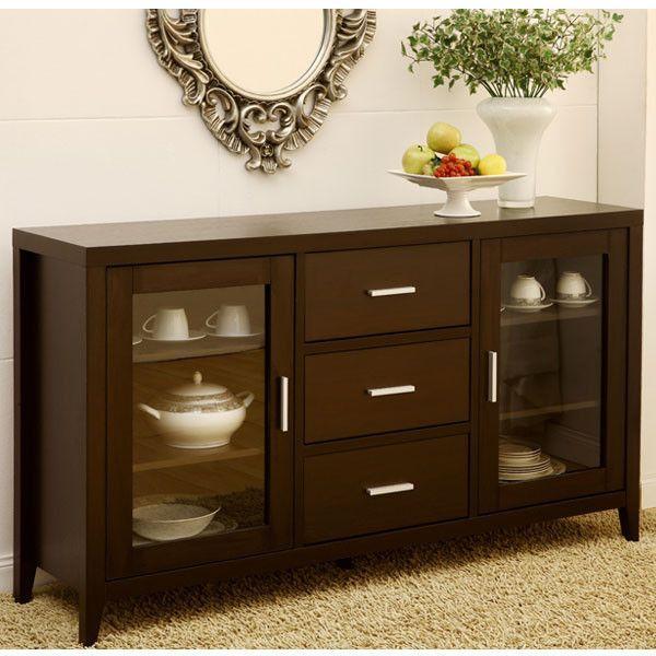 Dining Room Cabinet Ideas: Metropolitan Espresso Finish Dining Buffet Server Cabinet