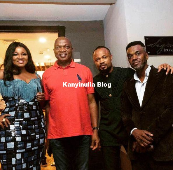 Dangote Otedola Others At The Private Viewing Of Omotola Jalades Movie Alter Ego