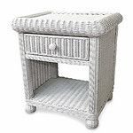 Wicker 1 Drawer Nightstand - #white #wicker #bedroom #furniture by Wicker Paradise