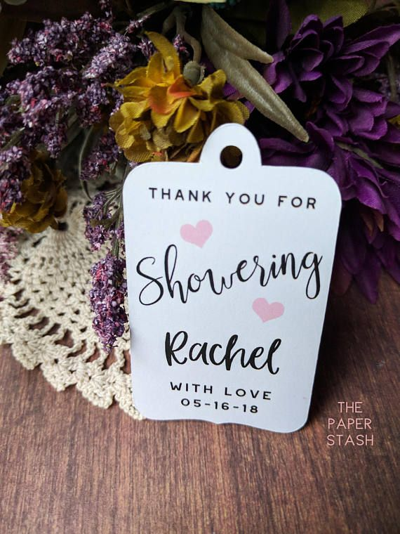 Thank You for Showering Bridal Shower Gift Tags Favor Tags